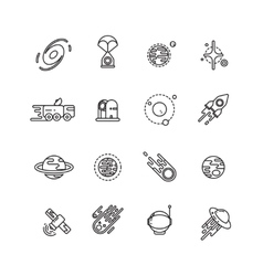 Cosmos astronomy and astrology space line vector image