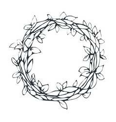 decorative laurel wreath isolated on white vector image
