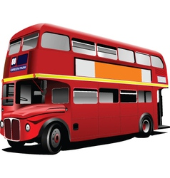 Double decker tours vector image