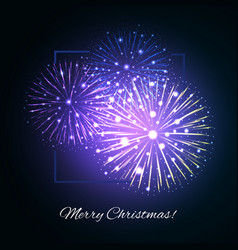 Festive fireworks holidays background vector