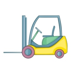 Forklift loader icon cartoon style vector