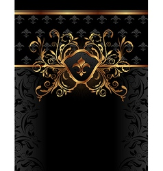 golden ornate frame for design - vector image vector image