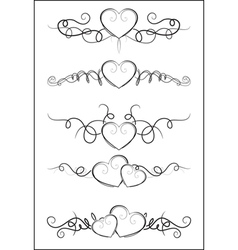 heart footers vector image vector image