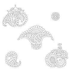 Indian paisley set vector image