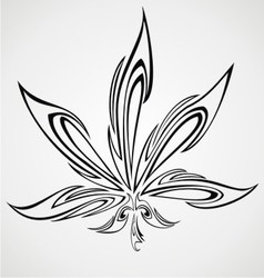 Marijuana leaf tattoo design vector