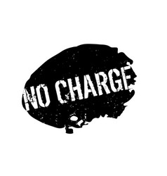 No charge rubber stamp vector