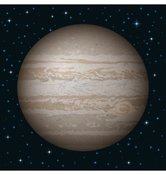 Planet jupiter in space vector