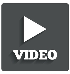 Play video button Player navigation vector image