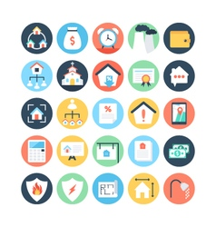 Real estate colored icons 5 vector