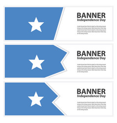 Somalia flag banners collection independence day vector