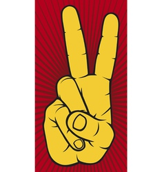 The Victory sign hand gesture vector image vector image
