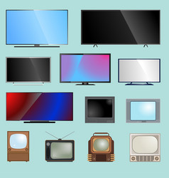 Tv screen lcd monitor template vector