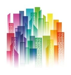 Urban city view vector image vector image
