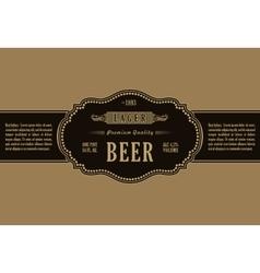 Vintage frame label gold sticker bottle beer vector