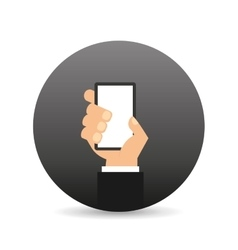 hand holding device icon vector image