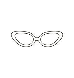 Cat eye sunglasses vector
