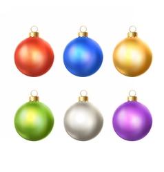 christmas balls collection vector image