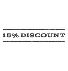 15 percent discount watermark stamp vector