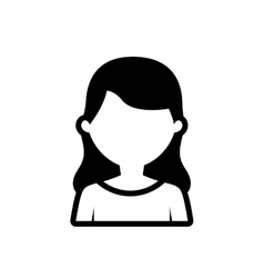 Avatar woman employee work outline vector