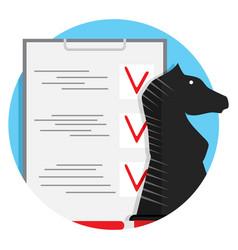 strategy checklist icon vector image