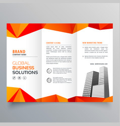 Stylish creative trifold brochure with abstract vector