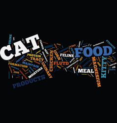 Five cat food factors that discourage feline utd vector