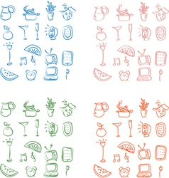 Home related icons vector
