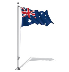 Flag pole australia vector