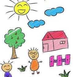 Children Doodle 3 vector image