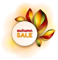 Autumn abstract background Orange leaves vector image