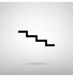 Stair down sign vector