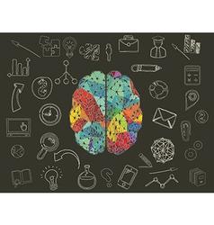 Colourful brain vector