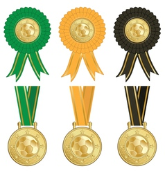 Football rosettes vector
