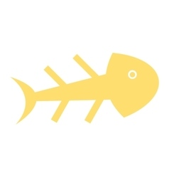 fish skull isolated icon design vector image