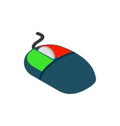 Computer mouse icon isometric 3d style vector