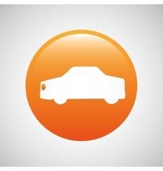 Transportation button design vector