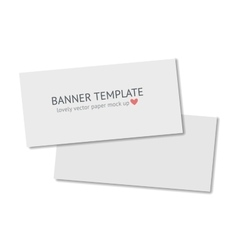 Blank flyer with shadow isolated on dark vector image vector image