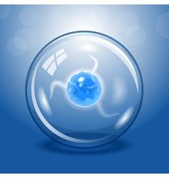 Blue electric lightning ball vector