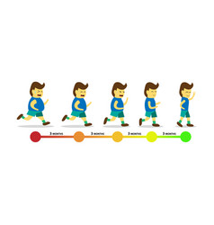 body transformation by jogging infographic vector image