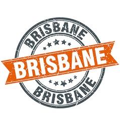 Brisbane red round grunge vintage ribbon stamp vector