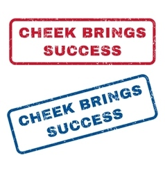 Cheek brings success rubber stamps vector