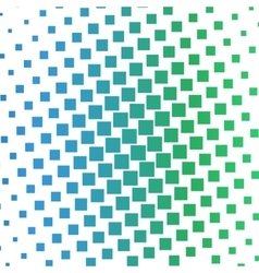 Color squares halftone gradient pattern vector image