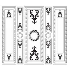 Decorative damask ornamented frames for walls vector
