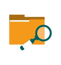 file folder and magnifying glass icon vector image