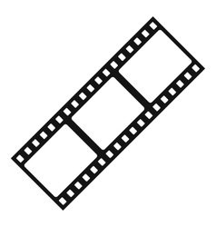 Film strip icon simple style vector image