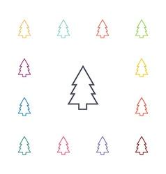 Fir-tree flat icons set vector