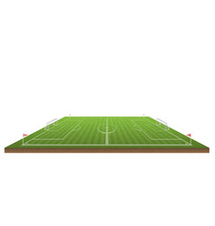 football field and soccer vector image
