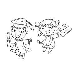graduate funny cartoon character vector image vector image