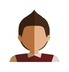 Half body boy half brunette and caucasian blazer vector