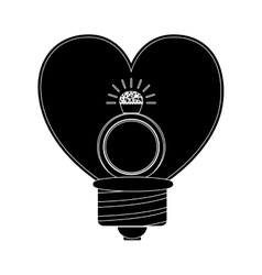 Heart shape bulb vector
